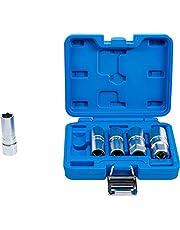 """BGS 6641   Juego de llaves de vaso para bujías hexagonal   entrada 12,5 mm (1/2"""")   14 - 21 mm   5 piezas"""