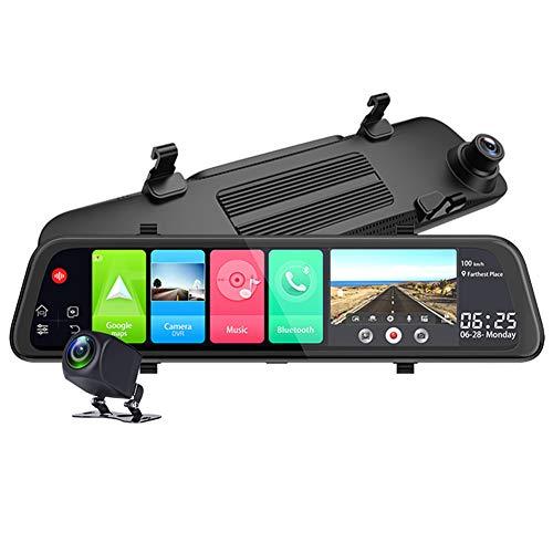 MSQL 11.66 Pollici Android 8.1 4G specchietto retrovisore GPS WiFi DVR registratore Automatico Dash Camera con Visione Notturna HD, G-Sensor