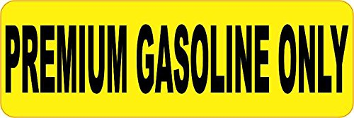 StickerTalk Premium Gasoline Only Vinyl Sticker, 6 inches by 2 inches
