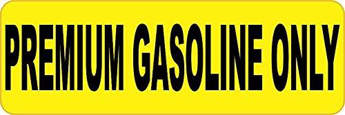 StickerTalk Premium Gasoline Only Vinyl Sticker, 6 inches by 2 inches