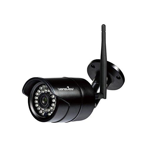 Wansview WLAN IP Kamera, Überwachungskamera 1080P HD für Außen mit LAN und WLAN Verbindung, Outdoor WiFi IP66 wasserdichte Sicherheitskamera, Infrarot Nachtsicht, Deutsche App, Anleitung W2 Weiß