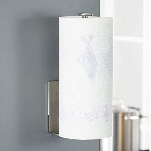 Homfa Küchenrollenhalter ohne Bohren Küchenpapierhalter Wand Papierrollenhalter selbstkelbende Küchenrollen Halter Edelstahl für 1 Rolle 28,5cm