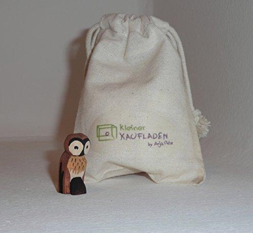 Lotte Sievers-Hahn Eule mit Baumwollbeutel Krippenfigur