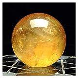 Changskj Cristallo Naturale Grezzo 1 PC Citrina Pietre Palla Naturali Giallo Giallo Quarzo Sfera di Pietra Cristallo Fluorite Palla guarigione Gemme 40mm
