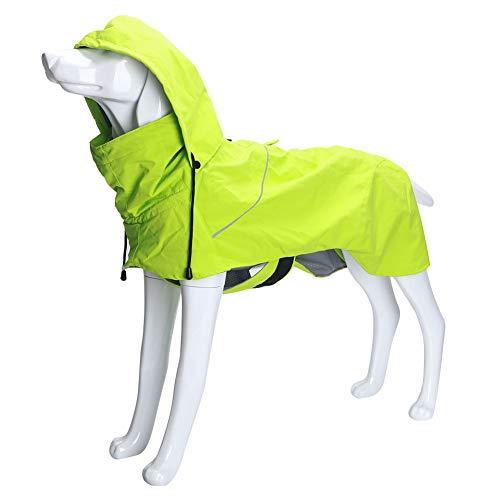 Outdoor lichtgewicht huisdier hond regenjas jas, waterdichte winddichte verstelbare hond jas met veiligheid reflecterende strip voor doggy puppies kleine middelgrote grote honden, XL, Groen