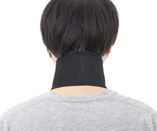 PC・スマホ操作に 首楽っくん 首サポーター 5つのボーンで 首固定 頚椎サポーター 説明書付き