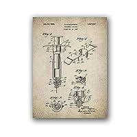 皮下注射器ヴィンテージ医療ポスターナースギフト薬壁アートキャンバス絵画レトロな写真クリニックの装飾-50X70cm20x28インチフレームなし