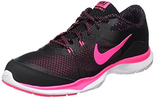 Nike Damen WMNS Flex Trainer 5 Print Gymnastikschuhe, Schwarz (Black Hyper Pink White), 36.5 EU