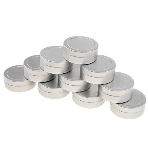 Homyl 10 Pcs 25 Ml Pot Boîtier Boîte Vide en Aluminium pour Epice Baume Pommade de Maquillage Poudre Fard à Joues Rouge à Lèvres