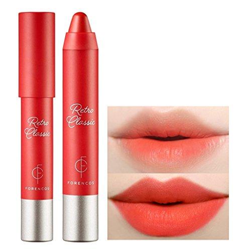[FORENCOS] Retro Classic Lip Crayon 2.5g (Retro Orange) - Creamy Velvet Finish Lip Balm Stick, Vibrant Color Light Adhesion Lip Crayon, Lip Moisturizing with Rose Hip Oil and Shea Butter
