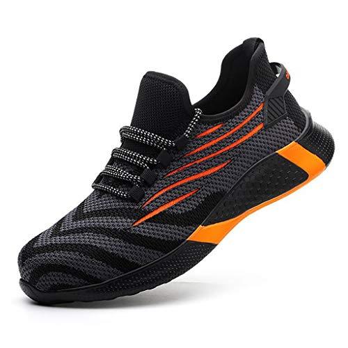 Zapatos de seguridad Zapatos de seguridad Hombres Tablas de puntera de acero ligero, transpirables, suaves, cómodas, zapatos de gimnasio flexibles - Ideal para toda la temporada Senderismo y trekking