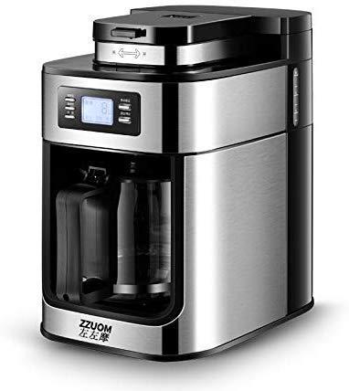 Dsnmm Automatische koffiemolen, Espresso & Cappuccino-fabrikant-machine Barista met Temp Control-melkkan, microcomputerbesturing roestvrij staal
