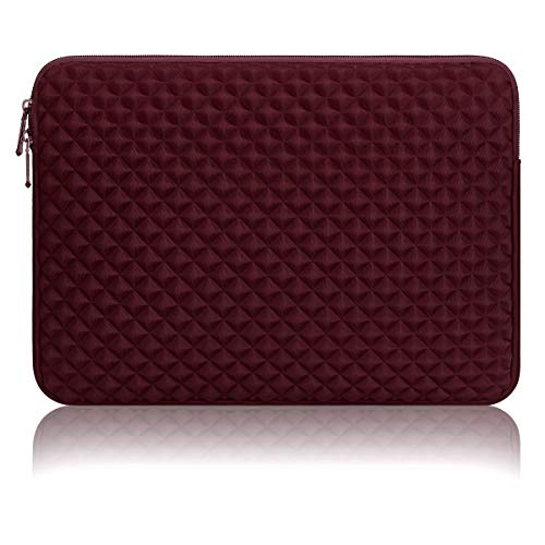 13 Inch Laptop Sleeve Multi-Color & Size Choices Case/Water-Resistant Diamond Foam Lycra Cloth Notebook Computer Pocket Tablet Briefcase Carrying Bag/Pouch Skin Cover for Acer/Asus/Dell/Lenovo/HP