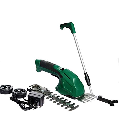 Cheapest Prices! MYFGBB Cordless 2-in-1 Hedge Trimmer, 7.2V Lawn Trim, Lightweight Design and Fast C...