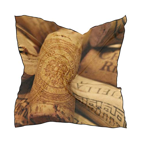 MONTOJ - Bufandas cuadradas de corcho de vino para mujer, material de seda