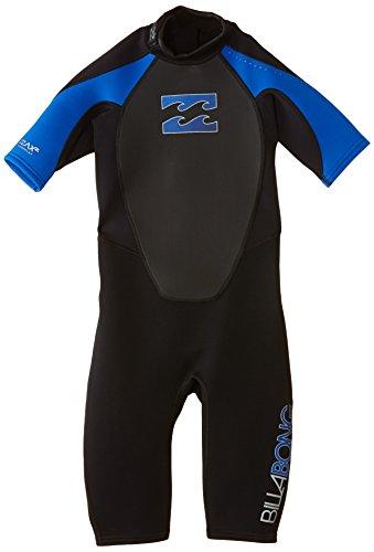 Billabong Junior Intruder 2mm Back Zip Shorty Wetsuit Black Blue - Easy Stretch