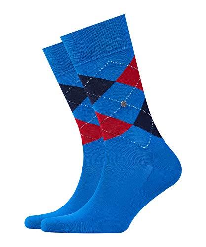 Burlington Herren Manchester M SO Socken, Blickdicht, Blau (Prussian Blue 6063), 40-46