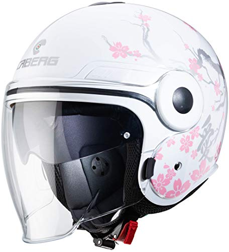Caberg CASCO UPTOWN BLOOM WHITE/SILVER/PINK S