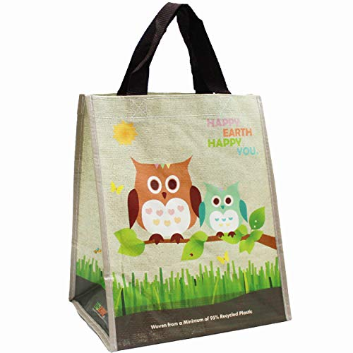 (1 Pack) EcoJeannie Mini Woven Reusable Shopping Bag Made from Recycled Plastic