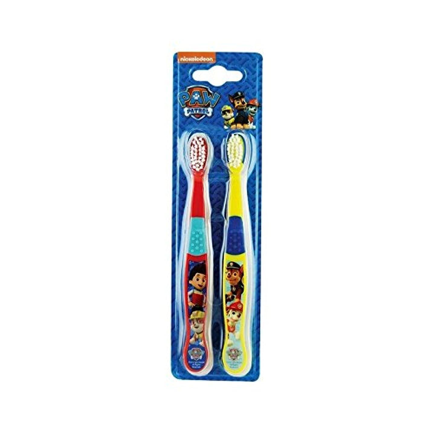 スラダムキッチン朝食を食べる1パックツイン歯ブラシ2 (Paw Patrol) (x 6) - Paw Patrol Twin Toothbrush 2 per pack (Pack of 6) [並行輸入品]