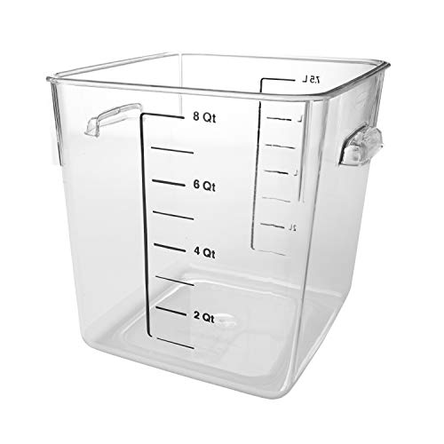 Rubbermaid Commercial Products FG630800CLR 7.5L Square Clear Storage Box