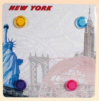 Out of the blue Tableau Ardoise aimantée Cuisine décor New York 25 x 25 cm