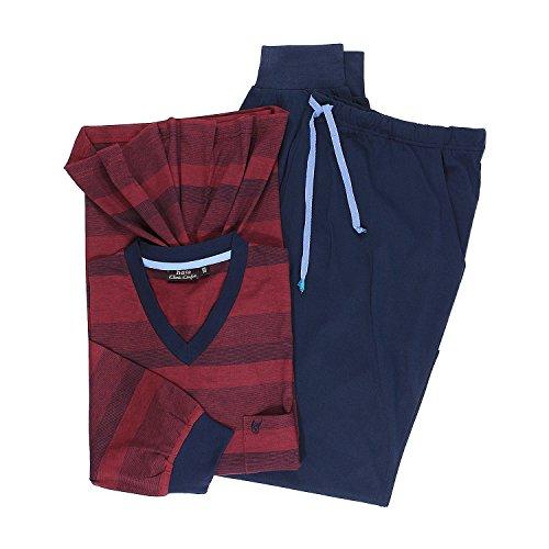 hajo Herren Zweiteiliger Schlafanzug, Rot (Bordeaux 302), Medium