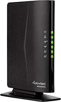 Actiontec 802.11ac Desktop WiFi Extender with 4 Internet Antennas 5GHz Gigabit Ethernet Bonded MoCA for Whole Home Fast WiFi  WCB6200Q  Black