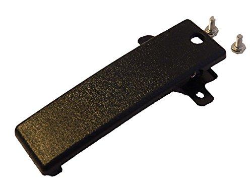 vhbw clip da cintura compatibile con Kenwood TK-350, TK-353, TK-360, TK-360G, TK-370, TK-370G, TK-372G walkie-talkie - Viti, plastica, nero