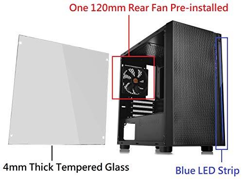 Thermaltake Versa H18 Tempered Glass Black Spcc Micro ATX Gaming Computer Case CA-1J4-00S1WN-01