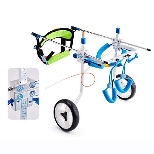 Silla de ruedas para perros ajustable Ajustable de acero inoxidable de la...
