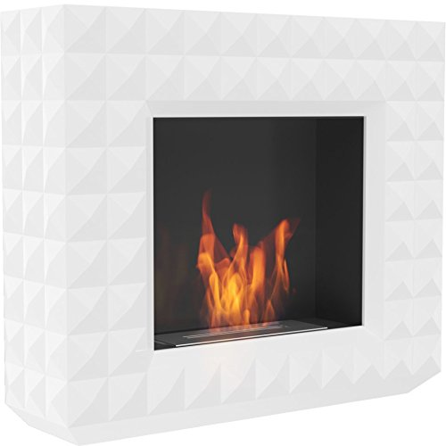 Buy Edmonton Elegant Portable Fireplace White Color/Modern Ethanol Fireplace