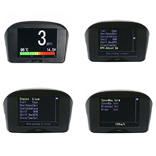 AUTOOL Velocímetro Digital OBDII KMH/MPH Sobrevelocidad Alarma Automática Código de Error Común Escáner Con Pantalla LCD Para 12V La Mayoría de Los Vehículos Diesel