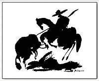 ポスター パブロ ピカソ Horse Air 額装品 アルミ製ハイグレードフレーム(ホワイト)