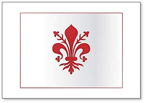 Coat Of Arms Of Florence - Tuscany (Italy). The Fleur De Lis Of Florence - Classic Fridge Magnet