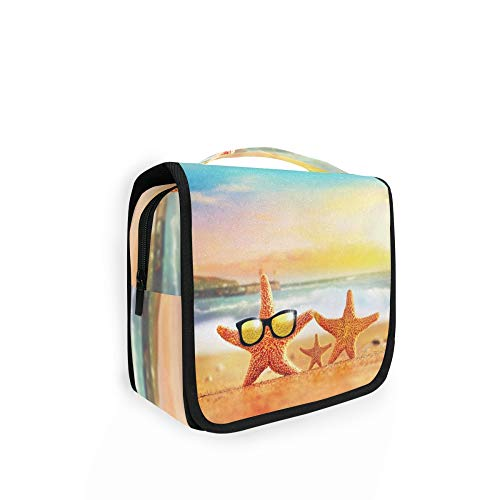 RELEESSS Bolsa de aseo para verano, playa, viaje, maquillaje, cosméticos, bolsa de lavado