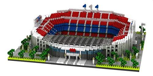 Atomic Building Estadio Camp NOU del Fútbol Club Barcelona. Modelo para armar con nanobloques. Más de 3500 Piezas