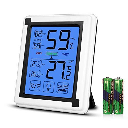 Opard Thermometer Hygrometer innen Innenthermometer Raumthermometer Zimmerthermometer luftfeuchtigkeitsmessgerät Hydrometer Feuchtigkeit Temperatur und luftfeuchtigkeitsmesser thermo hygrometer