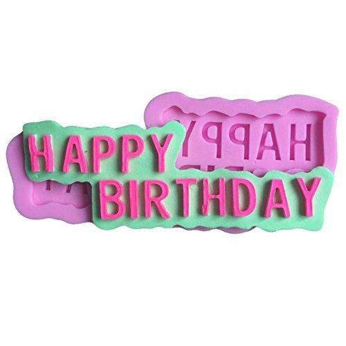 Gespout 3D Joyeux anniversaire lettre Silicone moule Silicone moules fondant gâteau décoration sucre Artisanat outils