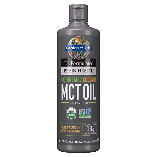 Garden of Life Dr. Formulated Health 100% Organic Coconut MCT Oil Unflavored 13g MCTs Keto & Paleo...