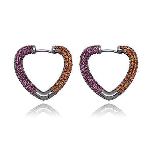 Cakunmik Love Earrings Personalized And Versatile Fashion Earrings Hip-Hop Fashion Women's Earrings Valentine's Day, A