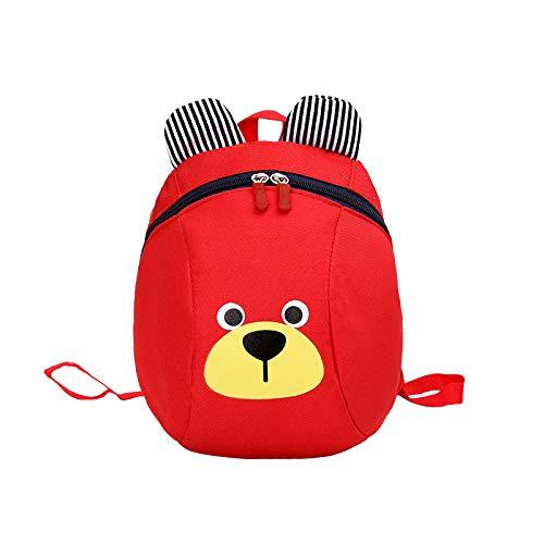 Rugzak voor Kinderen/Peuters Baby Kinderdagverblijf Tas met Veiligheid Harnas -Rood