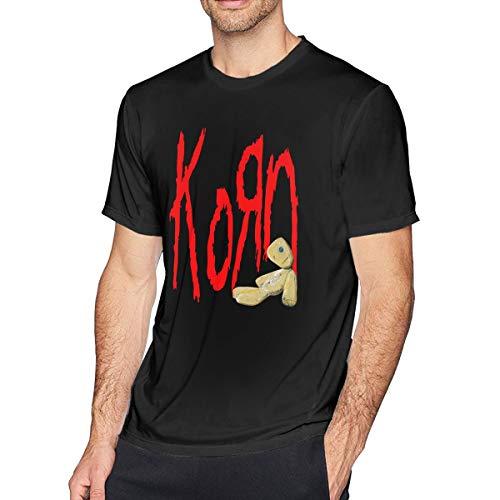 Patrick R Garrett Herren Kurzarm T-Shirt Korn gedruckt sportlich lässig T-Shirts für Männer stilvolle Top