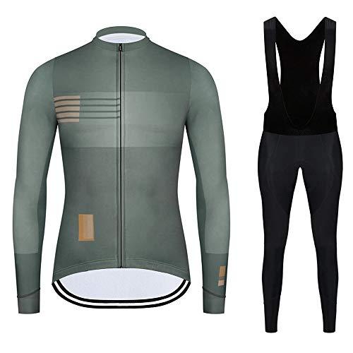GEFANENR - Conjunto de ropa de ciclismo de manga larga para hombre,...
