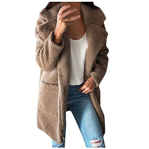 TEFIIR Damen Kapuzen Wintermantel PlüSchpullover Herbst Lose Bluse Sweatshirt Sweatshirtjacke Winter Elegant Langarm Mantel Jacke Outwear PlüSchjacke Winterjacke Sweater Tops