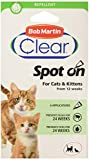 Bob Martin Clear   Spot On Flea & Tick Repellent for Cats and Kittens   Pesticide Free   Clinically Proven Protection (6 Pipettes )