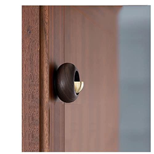 LYQY Campana magnética para Comerciantes, Nogal Negro, Timbre Vintage de Cobre Puro, diseño de Puerta de succión, 75 mm × 50 mm, Adecuado para Puerta Exterior, Puerta de habitación, Tienda-A