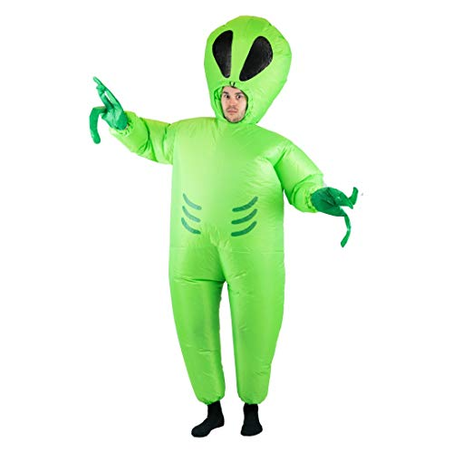 Green Alien Martian from Outer Space Inflatable Costume for Adults (One Size)