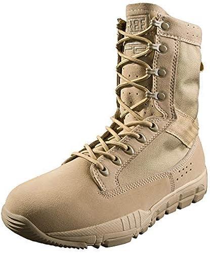 Free Solider bottes de combate Para Hombre chaussures de cadete Con Cordones militares Con Cuero de gamuza Para caminatas Escalada Motocicleta Trabajo Bota de patrulla táctica Ligera