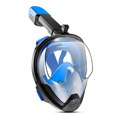 LYYAN Suministros de Buceo Nuevo Máscara de Buceo Integral Adultos Easybreath Máscara Snorkel Cara Completa 180° Vista Panorámica Anti-Niebla Anti-Fugas Gafas de Bucear Gafas de Natación Deport
